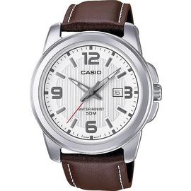 Casio Men's Brown Genuine Leather Strap Watch