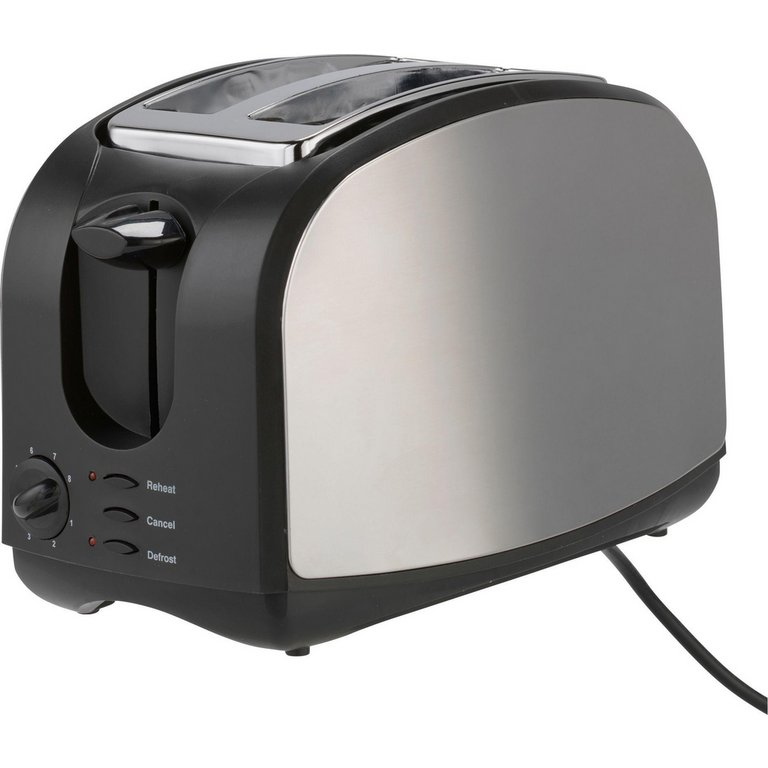 Buy Cookworks Stainless Steel 2 Slice Toaster - Black at Argos.co ... | {Toaster 28}
