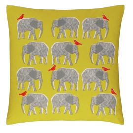 Habitat Topsy Patterned Cushion - Saffron