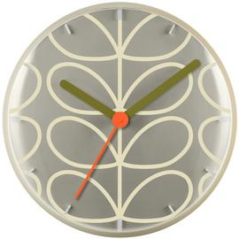 Orla Kiely Wall Clock - Cream & Grey