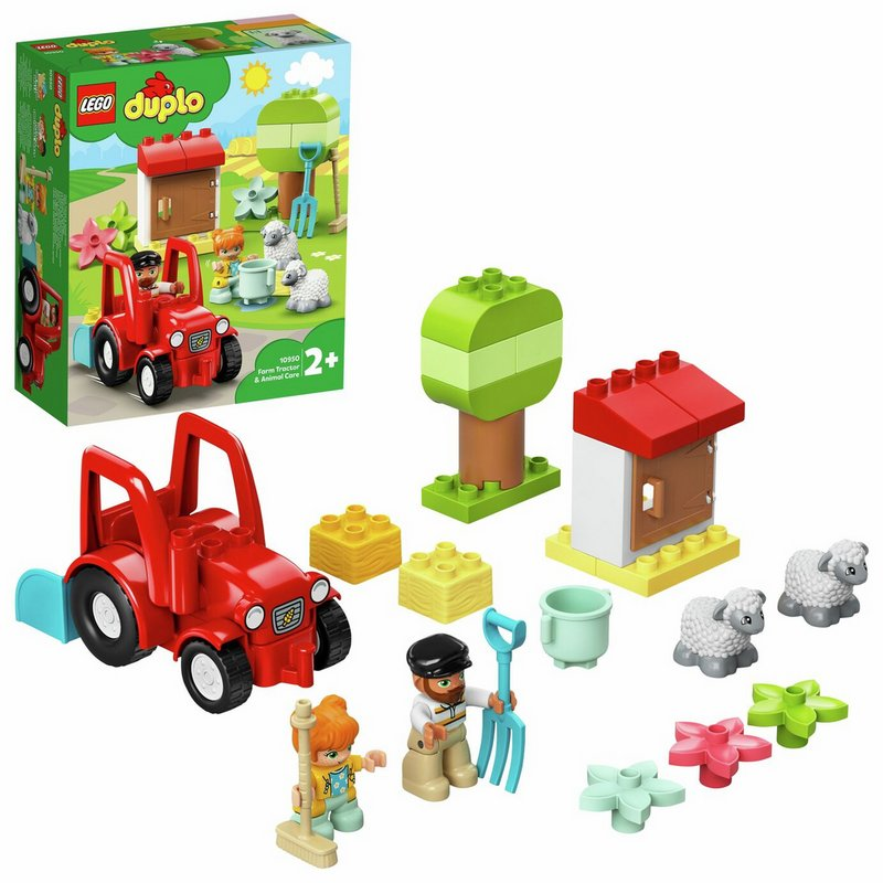 LEGO DUPLO Town Farm Tractor and Animals Toddler Toy 10950 from Argos