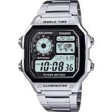 Casio Men's Stainless Steel World Time Illuminator Watch