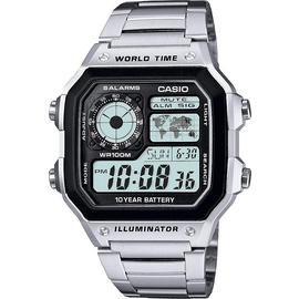 Casio Men's Stainless Steel World Time Illuminator Watch