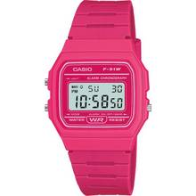 Casio Digital Watch with Pink Resin Strap