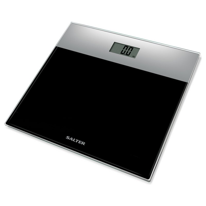 Salter Glass Electronic Scale - Black from Argos