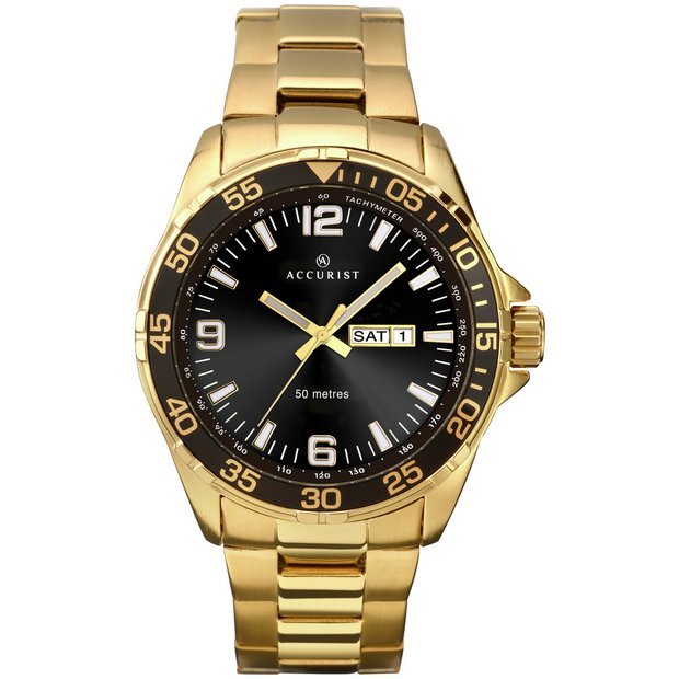 buy men s watches at argos co uk your online shop for jewellery more details on accurist men s gold plated sports watch