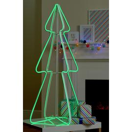 Argos Home 3ft Green Neon Light Tree