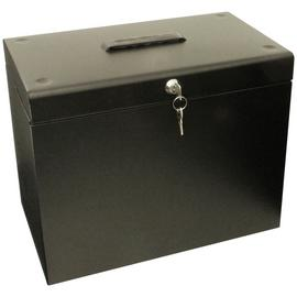 Cathedral A4 Metal Box File - Black