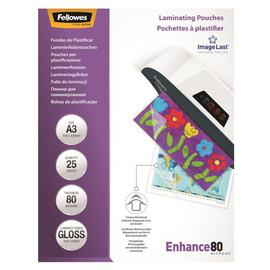 Fellowes A3 80mic Laminating Pouches - 25 Pack