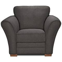 Argos Home New Thornton Fabric Chair - Charcoal