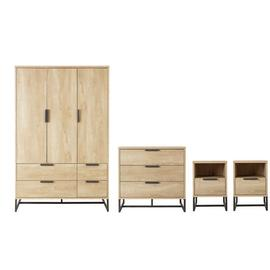 Argos Home Nomad 4 Piece 3 Door 4 Drawer Wardrobe Set