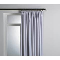 Argos Home Pleat Top Blackout Curtain Lining 168x178cm White