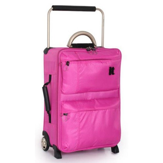 Buy IT World's Lightest 2 Wheel Suitcase - Pink at Argos.co.uk ...