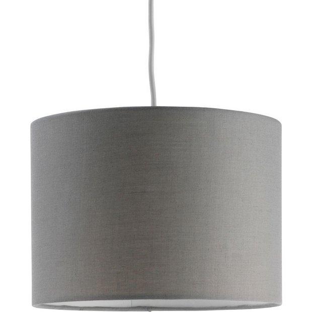 buy colourmatch fabric shade flint grey at. Black Bedroom Furniture Sets. Home Design Ideas