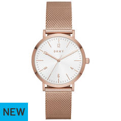 DKNY Rose Gold Mesh Stap Watch