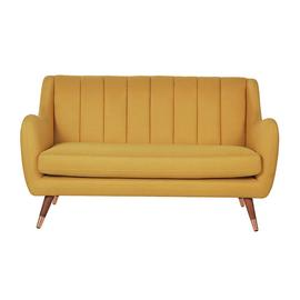 Argos Home Leila 2 Seater Fabric Sofa - Yellow