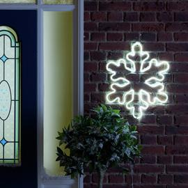 Argos Home Neon Large Light Up Snowflake