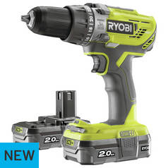 Ryobi ONE+ 2Ah Cordless Combi Drill with 2 Batteries – 18V