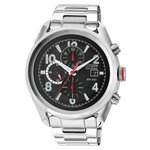 more details on Citizen Men's Eco-Drive Red Crown Chronograph Bracelet Watch
