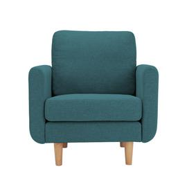 Argos Home Remi Fabric Armchair in a Box -Teal