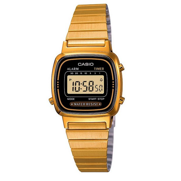 Buy Casio Ladies Gold Tone Digital Watch Womens Watches Argos