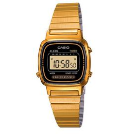 Casio Ladies' Gold Tone Digital Watch