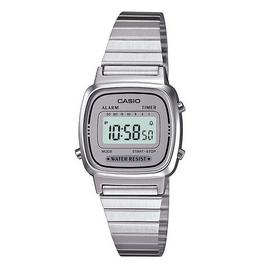 Casio Ladies Chrome Coloured Stainless Steel Bracelet Watch