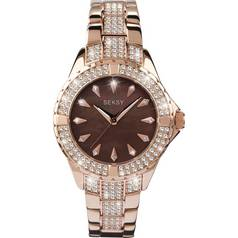 Seksy Intense Ladies' Stone Set Rose Gold Plated Watch