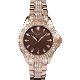 Seksy Intense Ladies Stone Set Rose Gold Plated Watch