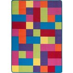 more details on ColourMatch Kids' Extra Large Block Rug - 170x120cm - Multi.