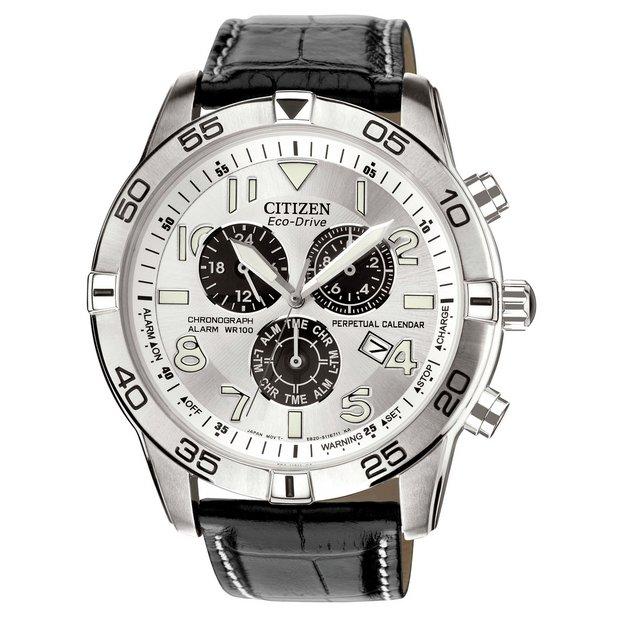 e842e1f23c797 Buy Citizen Eco-Drive Men s Black Strap Perpetual Calendar Watch ...