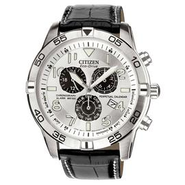 Citizen Eco-Drive Men's Black Strap Perpetual Calendar Watch