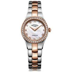 Rotary Ladies' Rose Gold Coloured and Stainless Steel Watch