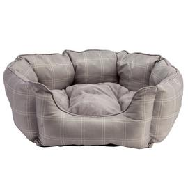 Country Check Oval Ped Bed - Extra Large
