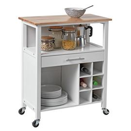Argos Home Kitchen Trolley with Wine Rack - Cream