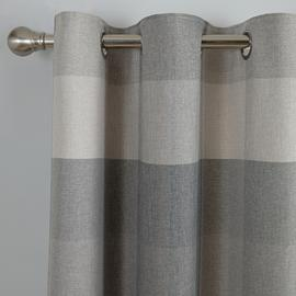 Argos Home Block Check Lined Eyelet Curtains