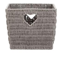 Argos Home Squares Natural Heart Box - Grey