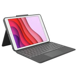 Logitech iPad (7th Gen) Combo Touch Trackpad Case - Grey