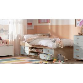 Argos Home Camden Grey & Acacia Cabin Bed & Kids Mattress