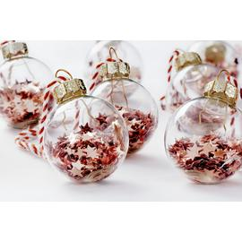 Argos Home Noir Copper Mini Shaker Bauble - 12 Pack