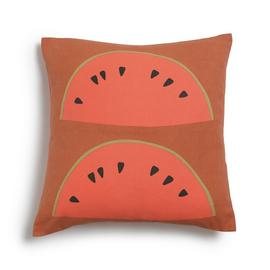 Habitat Watermelon Patterned Cushion - Orange