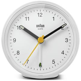 Braun Classic Analogue Alarm Clock - White