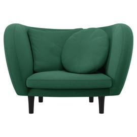 Habitat Arya Green Fabric Armchair