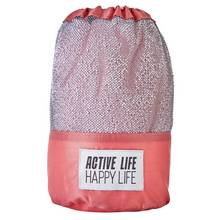 Active Life Happy Life Sports Towel - Pink