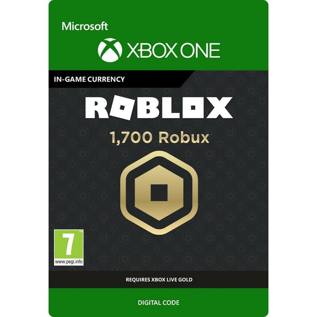 Buy Roblox 1700 Robux Currency Xbox One Digital Download Gift Cards Argos