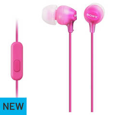 Sony MDR-EX15AP In-Ear Wired Headphones - Pink