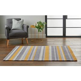 Argos Home Striped Rug - 120x160cm - Grey & Mustard