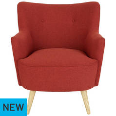 Habitat Franze Fabric Armchair - Brick Red