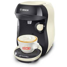 Tassimo by Bosch Happy TAS1007GB Coffee Machine Cream + 5 Packs of T Discs Pods Coffee 56 Drinks ☕ Variety Box Set Best Price and Cheapest