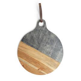 Habitat Acacia Circular Marble Chopping Board